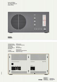 Less and More: Dieter Rams | Bibliothèque Design #lessmore #dieter #rams #invitation