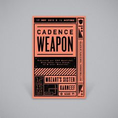 Cadence Weapon #print #typography #poster #geometric #monochromatic #show #cadence weapon #pop montral #show flyer