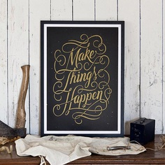 Make Things Happen! Limited edition of 25 copies. A2 screenprint gold&black on high quality paper! Get it on www.sevendaysaweek-shop.com !! ✨