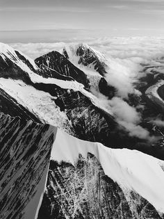 My life is a series of mountains. #mountain #white #range #peaks #snow #black #and #mountains