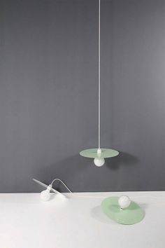 Flachmann | Stilsucht #interior #design #minimal #disc #light #pastel