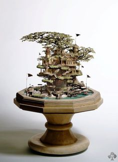 Bonsai diorama takanori aiba #tree #diorama #treehouse #bonsai #miniature