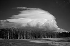 Lenticular Sunday in Iwate [Explored] | Flickr - Photo Sharing! #clouds #white #woods #black #photography #and #forest #trees