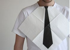 7rano » Napkin #cool #white #simple #napkin #tie