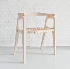 "A day in the land of nobody - ""Bind/B1"" Chair by Jessy Van Durme #product #furniture #design #wood"