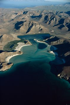 Aerial view of Balandra Beach in Baja California, Mexico, October 1972.Photograph by Michael E. Long, National Geographic