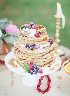 pancake wedding cake design