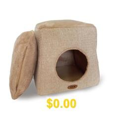 Pet #Nest #Folding #Cat #Litter #Kennel #Removable #And #Washable #Dual-use #Doghouse #Plush #Pet #Nest #- #KHAKI