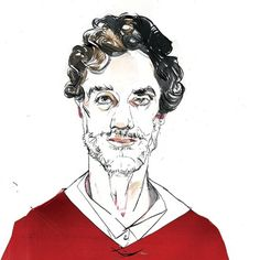 Men About Town - Events - Dwell #illustration #portrait #color
