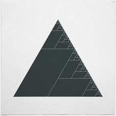 #399 Ashes of the triangle – A new minimal geometric composition each day