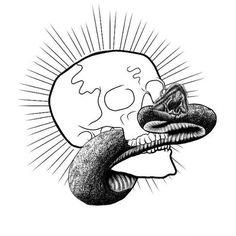 33648_433538655845_674360845_5656411_1649597_n.jpg (JPEG Image, 620×620 pixels) #snake #illustration #skull