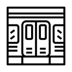 See more icon inspiration related to subway, underground, access, transportation, doors, door, train and transport on Flaticon.