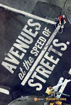 Bike Like a New Yorker3 #bicycle #typography #bike #street #york #nyc #new
