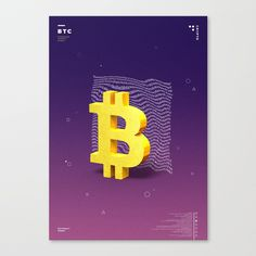 Bitcoin by Lunar Boots on Society6