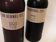 The Kernel - Admire the simplicity, gives a real feeling of a unique, small batch brewery but errs slightly on the side of looking 'cheap' #beer #bottles #branding