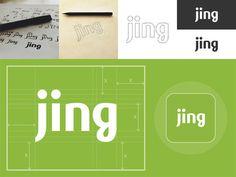 Jing Custom Type Logo: Case Study #serif #sans #logo #sketch #typography