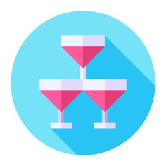 See more icon inspiration related to food and restaurant, alcoholic drinks, champagne glass, alcoholic drink, celebration, glasses, alcohol, champagne, toast, glass, party and food on Flaticon.