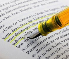 Fountain Pen with Highlighter Ink #home #office #gadget #pen