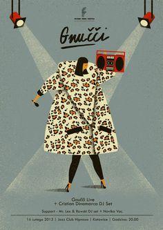 tauron nowa muzyka   posters on Behance #design #graphic #illustration #poster #music #band