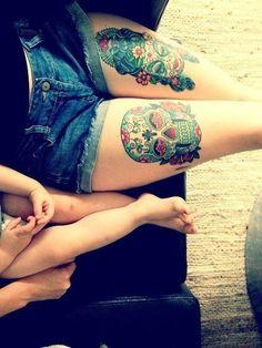 Sugar Skull Tattoo Meaning #tattoo #bodyart #tattooDesign