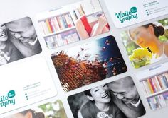 Waitography on the Behance Network #branding #business cards #card #photos