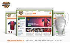 www.voetbalshirtskoning.nl #strategy #webshop #branding #webdesign #online