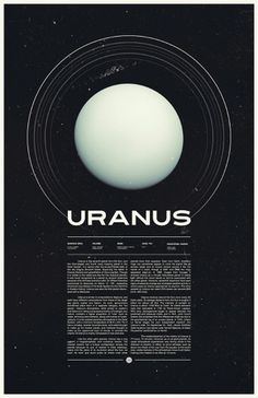 Uranus - Under the Milky Way - Ross Berens #space #uranus #posters #planets #typo #typography
