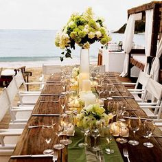 Wedding reception at The Beach #reception #wedding #decorations