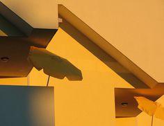 by gluka. #shadows #orange #umbrella