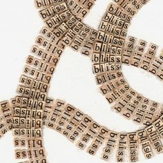 Text Drawings Created by Cutting Thousands of Letters from Books and Religious Texts | Colossal