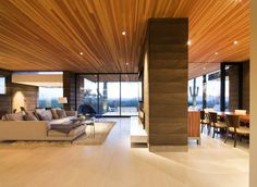Single Storey Hillside Residence Exhaling Simple Sophistication in Paradise Valley, Arizona #interior #design #living #room