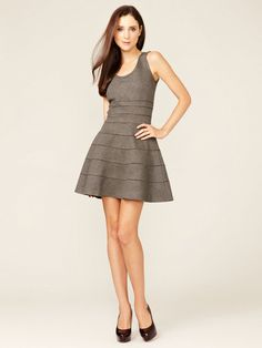 Issa London Banded A Line Dress #banded #dress #grey