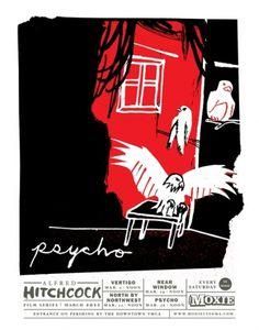Hitchcock Film Series Posters by Daniel Zender