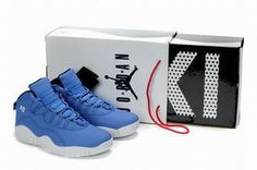 Nike Air Jordan 10 Retro Blue/White Men's #shoes