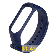 Replacement #Silicone #Wrist #Strap #Watch #Band #for #Xiaomi #MI #Band #3 #Smart #Bracelet #- #DEEP #BLUE