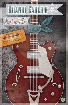 Brandi Carlile New Year's Eve Poster Design #verkamp #brandi #poster #ashley #carlile