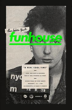 Funhouse Poster by Michael George Haddad #design #graphic #quality #typography