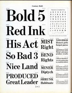 Morris F. Benton Designed Century Bold for ATF in 1904. #type #specimen #typography