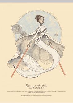 Dolls. Illustrations for poster design.