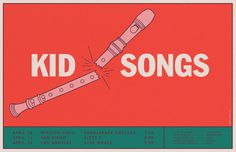 Kid Songs - Aaron Vinton #illustration #color #typography