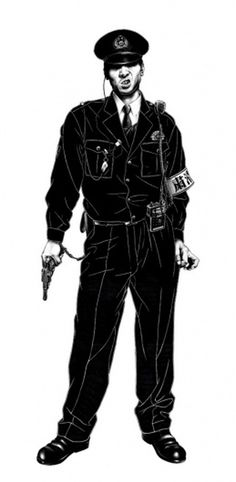 巡査 A' #police #illustration #japan