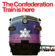 Canada Confederation Train #train #canada #1967 #confederation #purple #locomotive