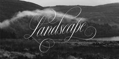 Landscape #lettering #copperplate #landscape #photography #custom #type #hand #typography