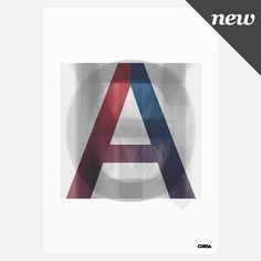 Cursa — Alpha (Print) #print #alpha #cursa #poster #type #typography
