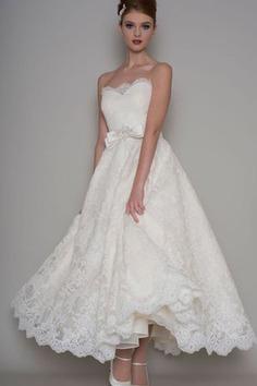 Robe de mariée manche nulle jusqu'à la cheville ceinture haut avec ruban avec fleurs - photo 1