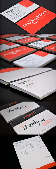 Pen&Mouse - Personal Branding #envelopes #invoice #business #stationary #branding #you #card #thank #cards