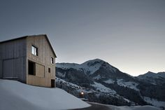 Who Doesn't Want To Have a House With a View? - Haus Fontanella by Bernardo Bader Architects #beautful #snow #landscape #houses #mountains #winter