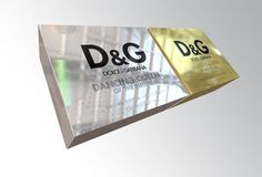 D&G #holographic #silver #design #fragrance #concept #gold #carton