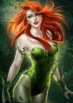 Ivy Close up by *sakimichan on deviantART #illustration #comics #poison ivy