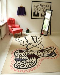 From Scandinavia with love - design & style (Carpet by Swedish designer and illustrator Jessica...) #carpet #design #scandinavian #textile